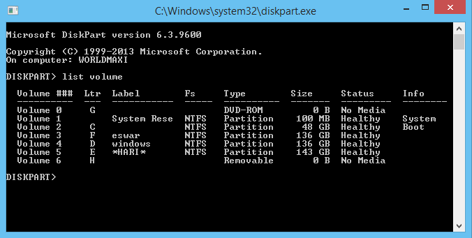How To Hide Drives with CMD ( Command Prompt )