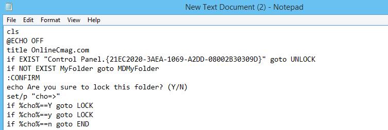 notepad password trick
