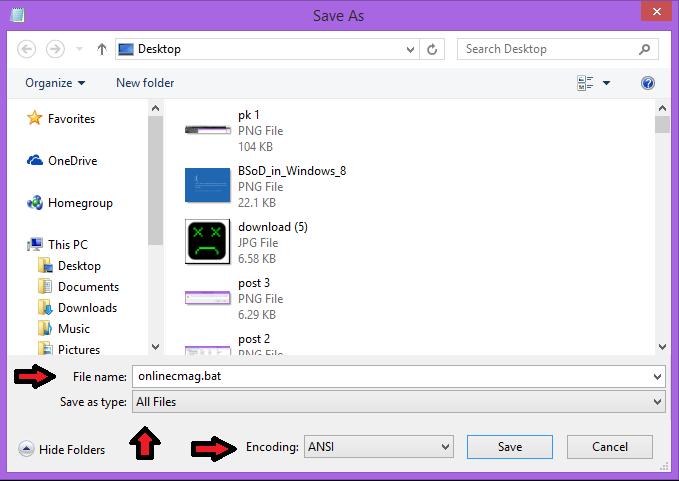 crash a computer using batch file