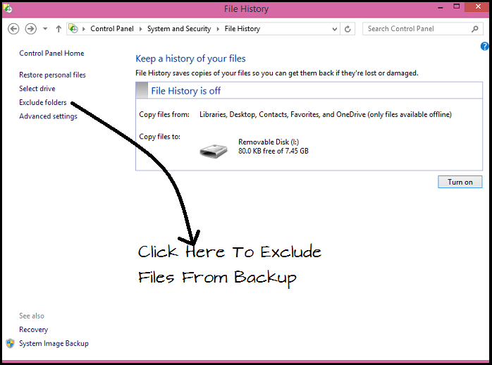 How to backup your data using File History in Windows