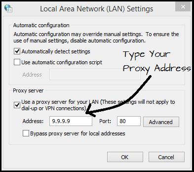 Change Your Proxy settings
