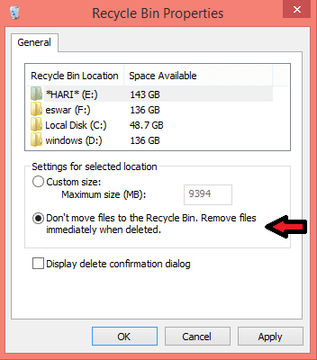 How To Permanently Delete Files Without Moving It Into the Recycle Bin , Generally when we delete any folder or file it directly moves to the recycle bin. From there we can either permanently delete files or restore the deleted..