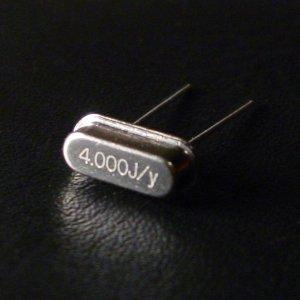 crystal oscillator: clock pulse generator, clock speed