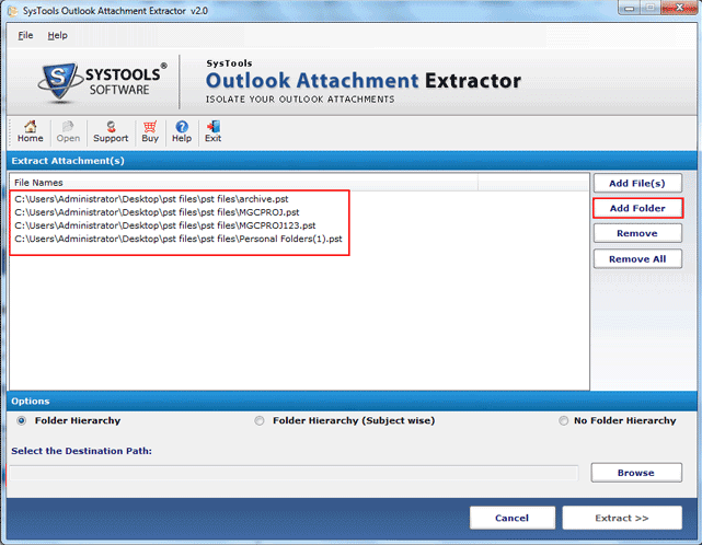 Outlook Attachment Extractor,Technique To Educe Email Attachments From Outlook PST Files In Bulk