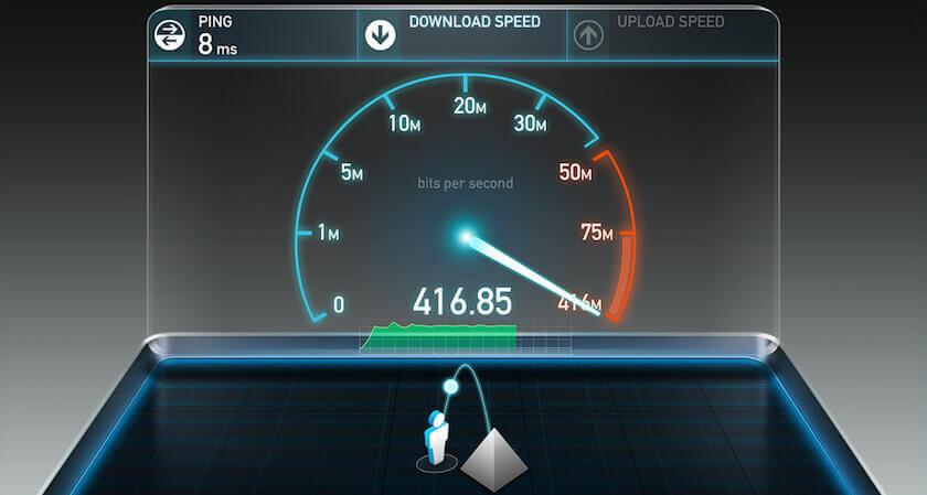 Internet connection speeds: speed test