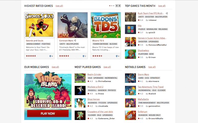 online gaming website kongregate