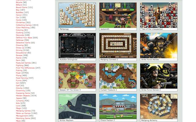 online gaming website minigames