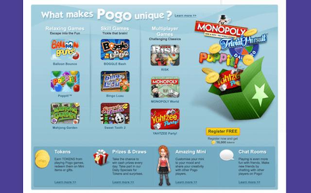 online gaming website pogo