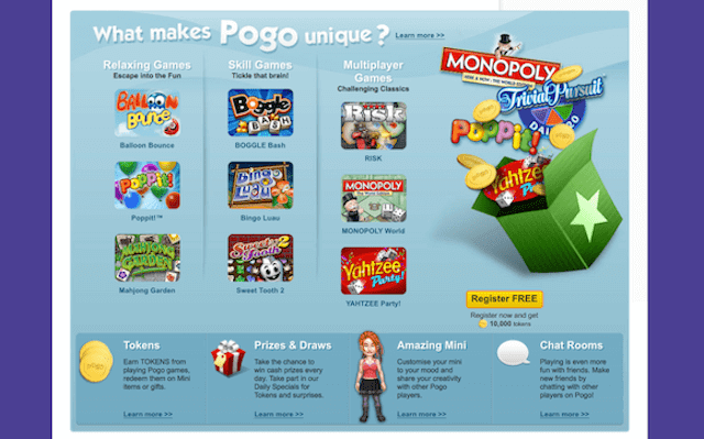 online gaming website pogo